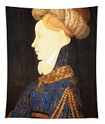 Profile Portrait Of A Lady -- Franco Flemish 15th Century Tapestry