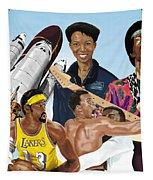 Jimi, Muhammad Ali, Wilt Chamberlain And Mae Carol Jemison Tapestry by Thomas J Herring