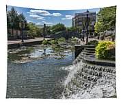 Promenade And Waterfall In Carroll Creek Park In Frederick Mary Tapestry