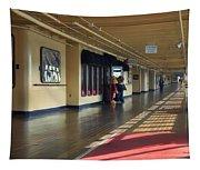 Promenade Deck Queen Mary Ocean Liner 01 Tapestry