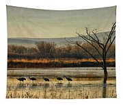 Promenade Of The Cranes Tapestry