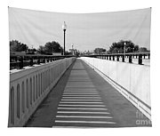 Prosser Bridge Perspective - Black And White Tapestry