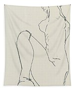 Prostrate Female Nude Tapestry