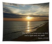 Psalm 119-105 Your Word Is A Lamp Tapestry