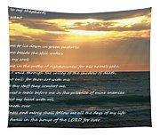 Psalm 23 Beach Sunset Tapestry