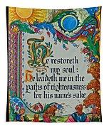 Psalms 23-3 Tapestry