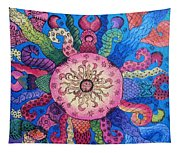 Psychedelic Squid 2 Tapestry