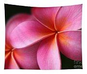Pua Lei Aloha Cherished Blossom Pink Tropical Plumeria Hina Ma Lai Lena O Hawaii Tapestry
