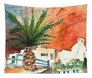 Puerto Carmen Sunset In Lanzarote Tapestry