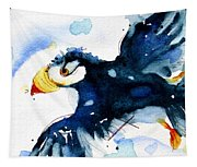 Puffin Flight Tapestry