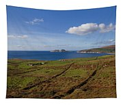 Puffin Island From The Skelligs Ring Tapestry