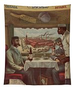 Pullman Compartment Cars Ad Circa 1894 Tapestry