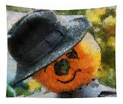 Pumpkin Face Photo Art 06 Tapestry