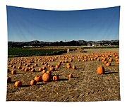 Pumpkin Field Tapestry