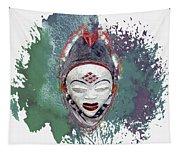 Punu Mask - Maiden Spirit Mukudji Tapestry