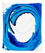 Pure Water 312 - Blue Abstract Art By Sharon Cummings Tapestry