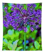 Purple Allium Flower Tapestry