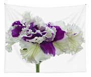 Purple And White Frilly Petunia Tapestry
