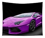Purple Aventador Tapestry