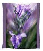 Purple Callas In Calla Vase Tapestry