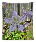 Purple Columbine Tapestry
