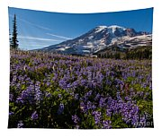 Purple Fields Forever And Ever Tapestry
