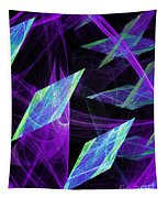 Purple Floating Diamonds Tapestry