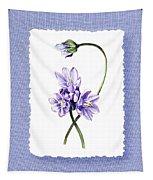 Purple Flowers Serenade Botanical Impressionism Tapestry