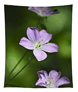 Purple Geranium Flowers Tapestry