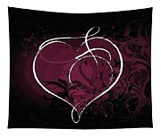 Purple Heart Of Passion Tapestry