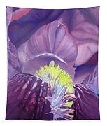 Georgia O'keeffe Style-purple Iris Tapestry