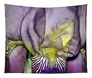 Purple Iris - Macro Tapestry
