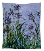 Purple Irises Tapestry