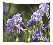 Purple Irises Tapestry