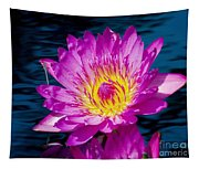 Purple Lily On The Water Tapestry