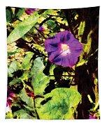 Purple Morning Glory Tapestry