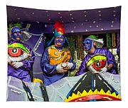 Purple Party People Tapestry