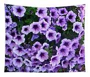 Purple Petunias Tapestry