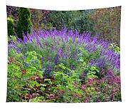 Purple Salvia In The Garden Tapestry