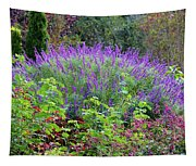 Purple Salvia In The Garden Tapestry