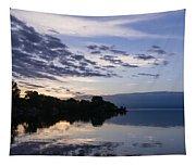 Purple Sunrise Clouds Tapestry