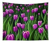 Purple Tulip Field Tapestry