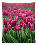 Purple Tulips Tapestry