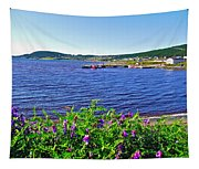 Purple Vetch Overlooking Rocky Harbour-nl Tapestry