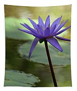 Purple Water Lily In The Shade Tapestry