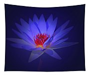 Purple Water Lily Tapestry