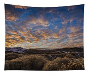 Pyramid Lake Sunset Tapestry