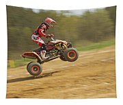 Quad Racer Jumping Tapestry