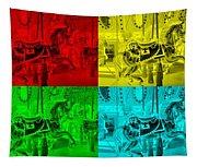 Quad Color Horses Tapestry