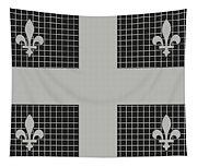 Quebec Metal Mesh Flag Tapestry